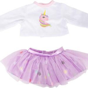 Abbigliamento per bambole Gonna e maglia maniche lunghe