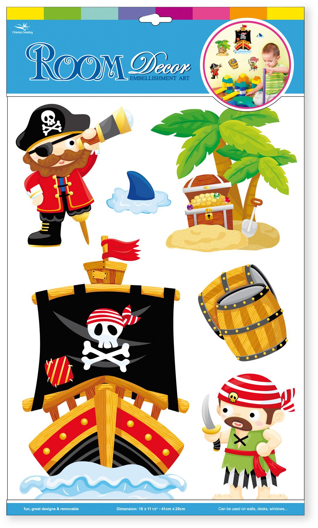 Adesivi decorativi «Pirati»