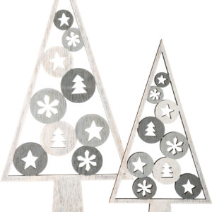 Albero decorativo con motivo natalizio