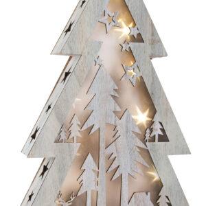 Albero di Natale con luci Shabby Chic, grande