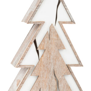 Albero illuminato, design tronco d'albero