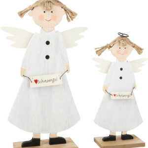 Angeli custodi decorativi in legno