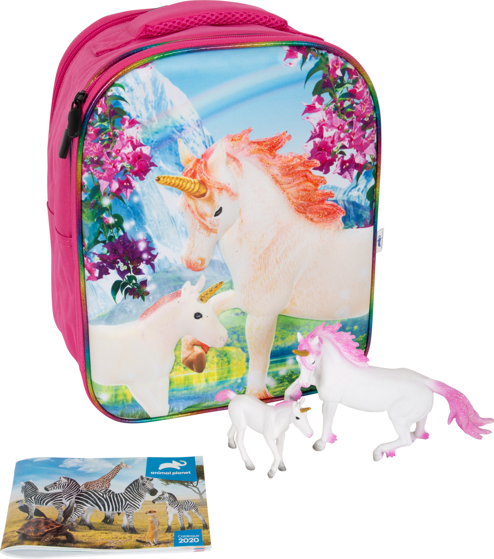 Animal Planet Zaino-Set da gioco 3D Unicorno