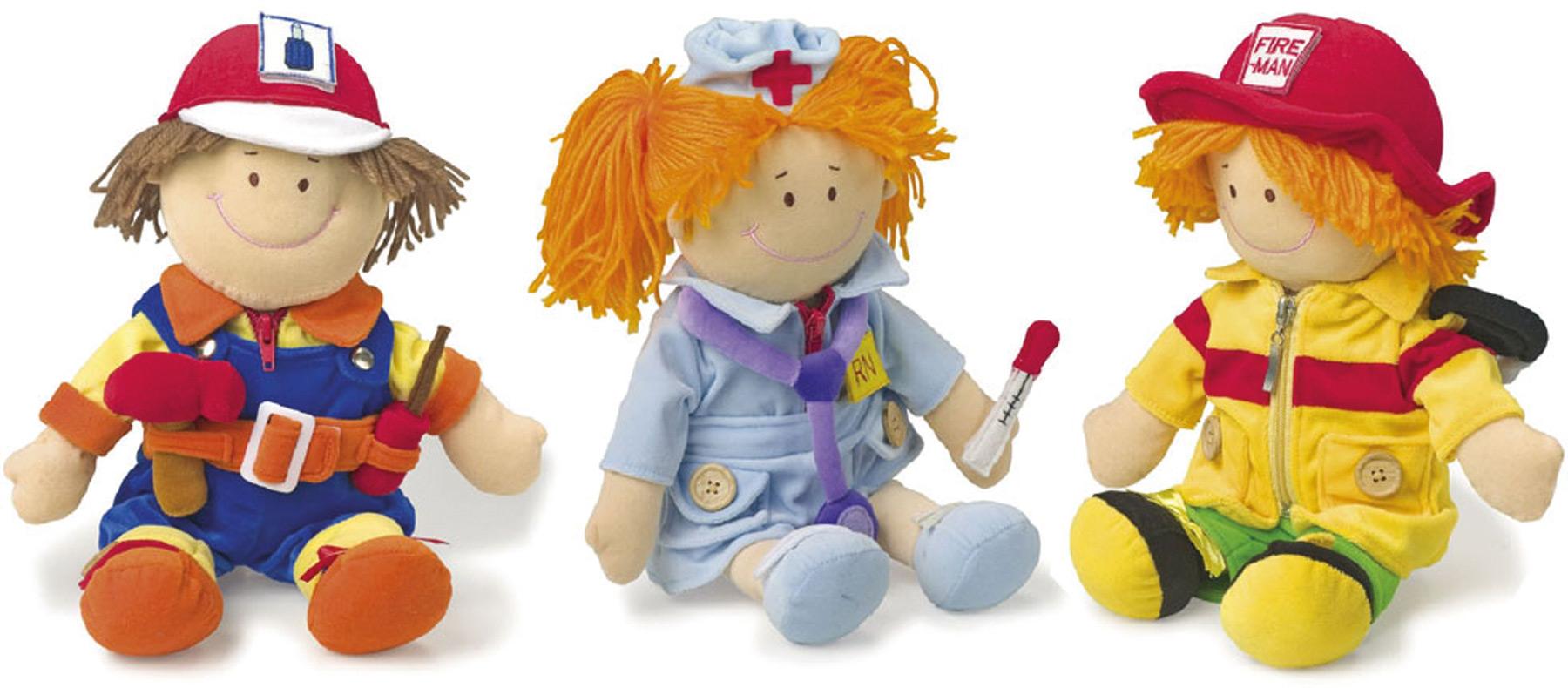 Bambole in stoffa Lavoratori