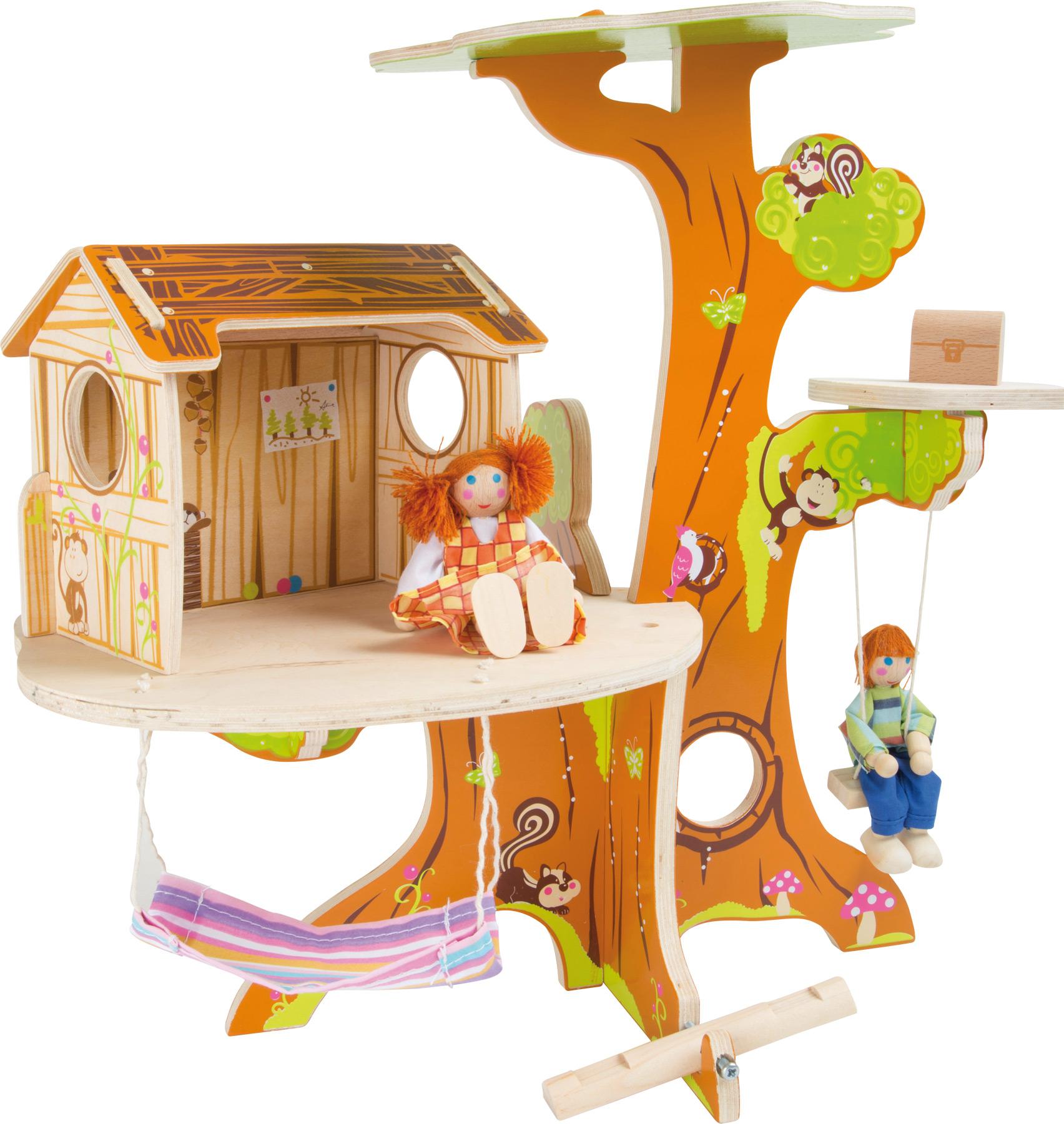 Casa sull'albero incl. bambole pieghevoli