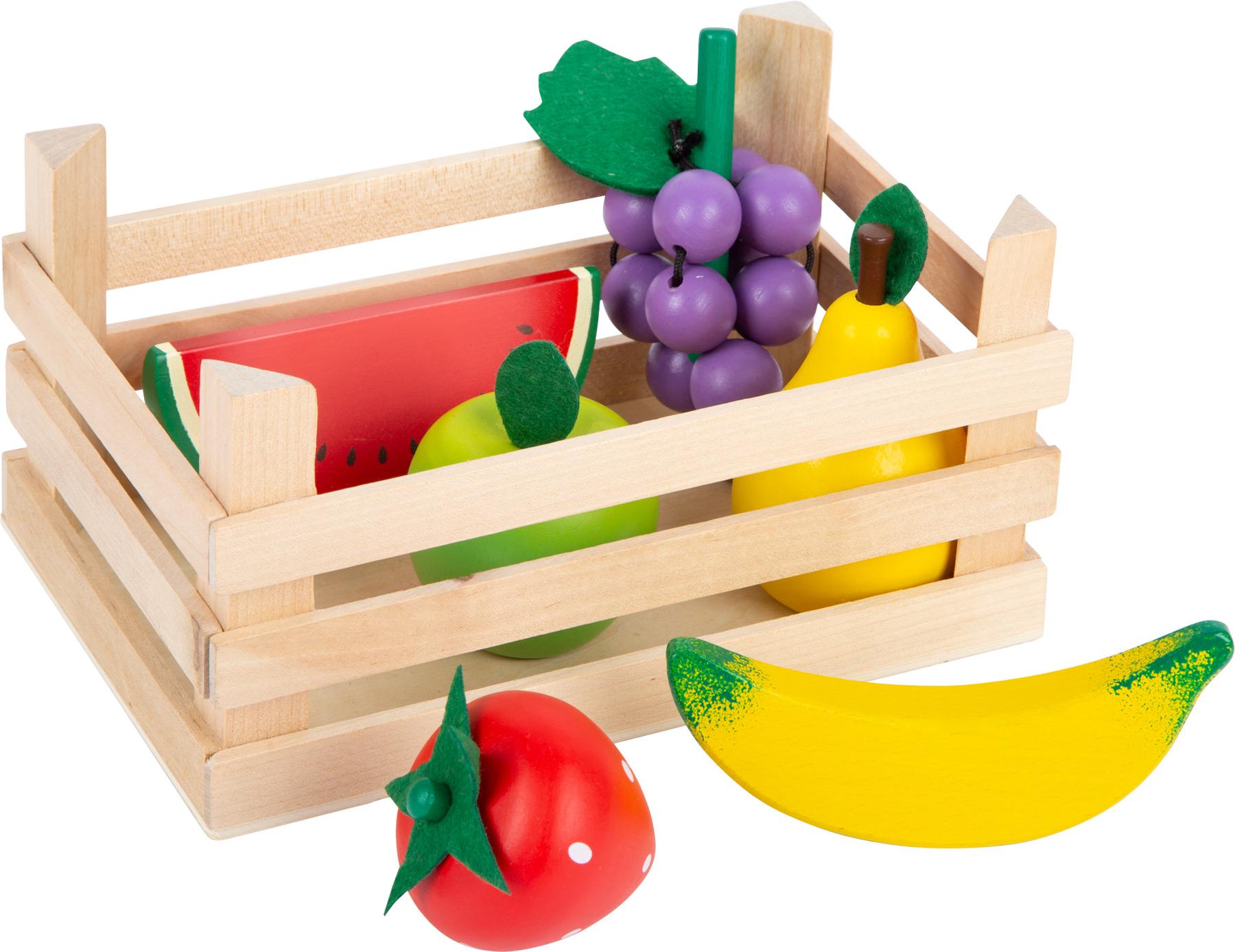 Frutta per negozietto con cassetta