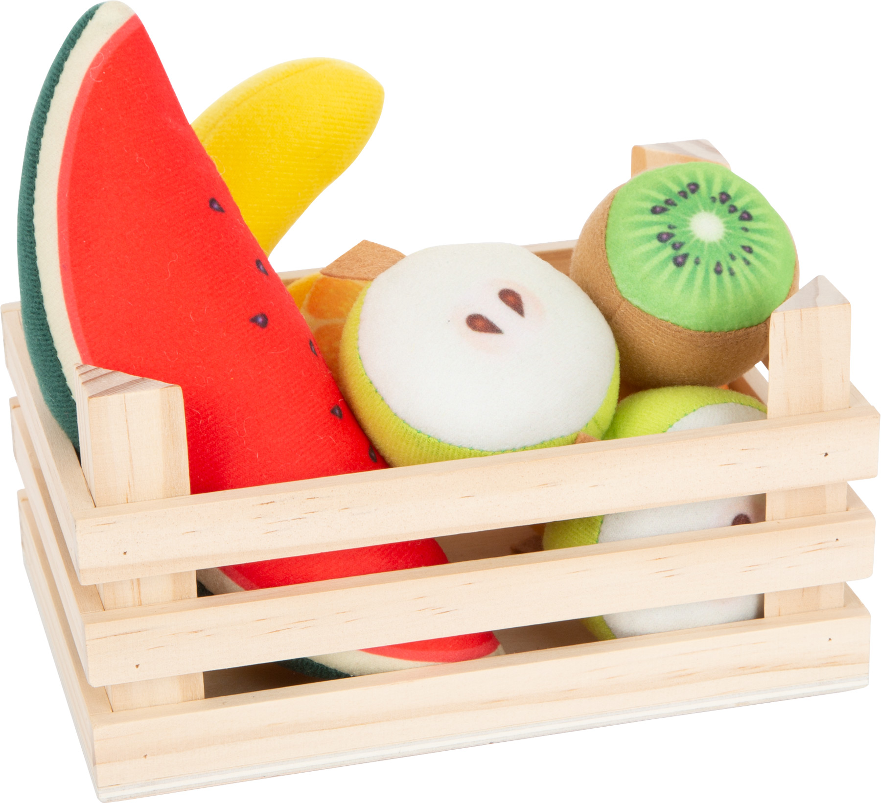 Frutti di stoffa con cassetta