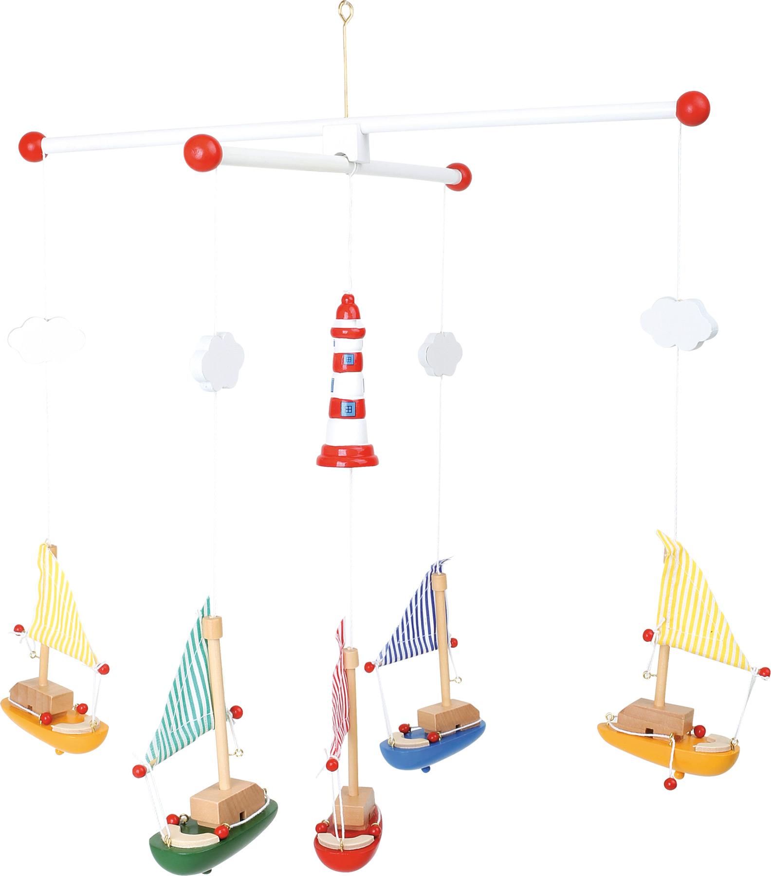 Giostrina Barche a vela con faro