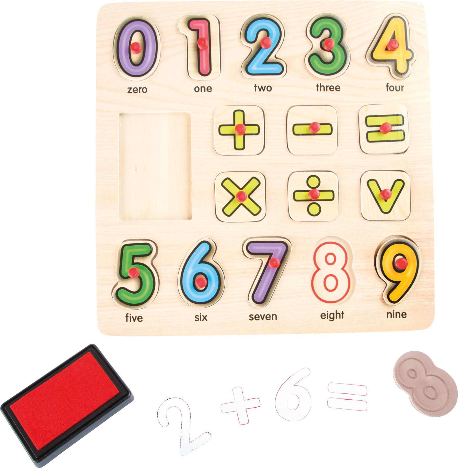 Timbri e puzzle Matematica